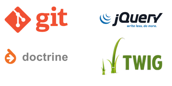 GIT, Doctrine, jQuery and Twig