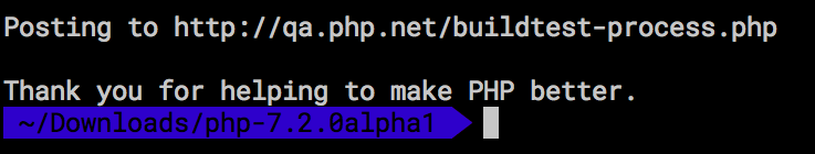 Thank you for helping to make PHP better