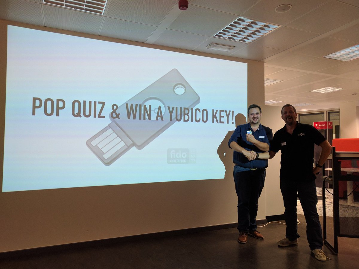 Giving out Yubico U2F keys at user group meetups
