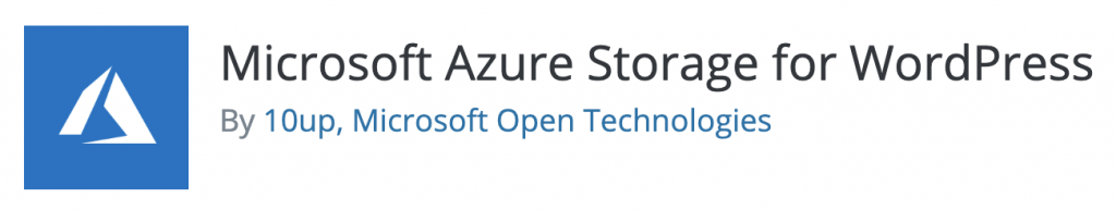 Microsoft Azure Storage for WordPress plugin
